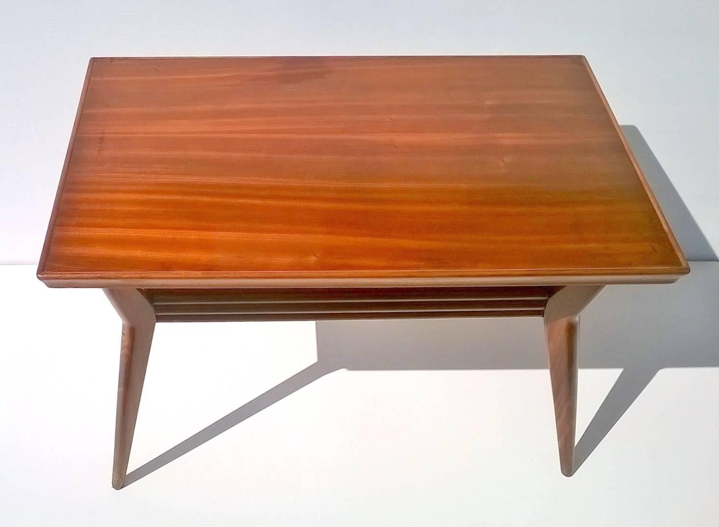 Art Deco Italian Mahogany Coffee Table, 1930S For Sale At Pamono regarding Mahogany Coffee Tables (Image 2 of 30)
