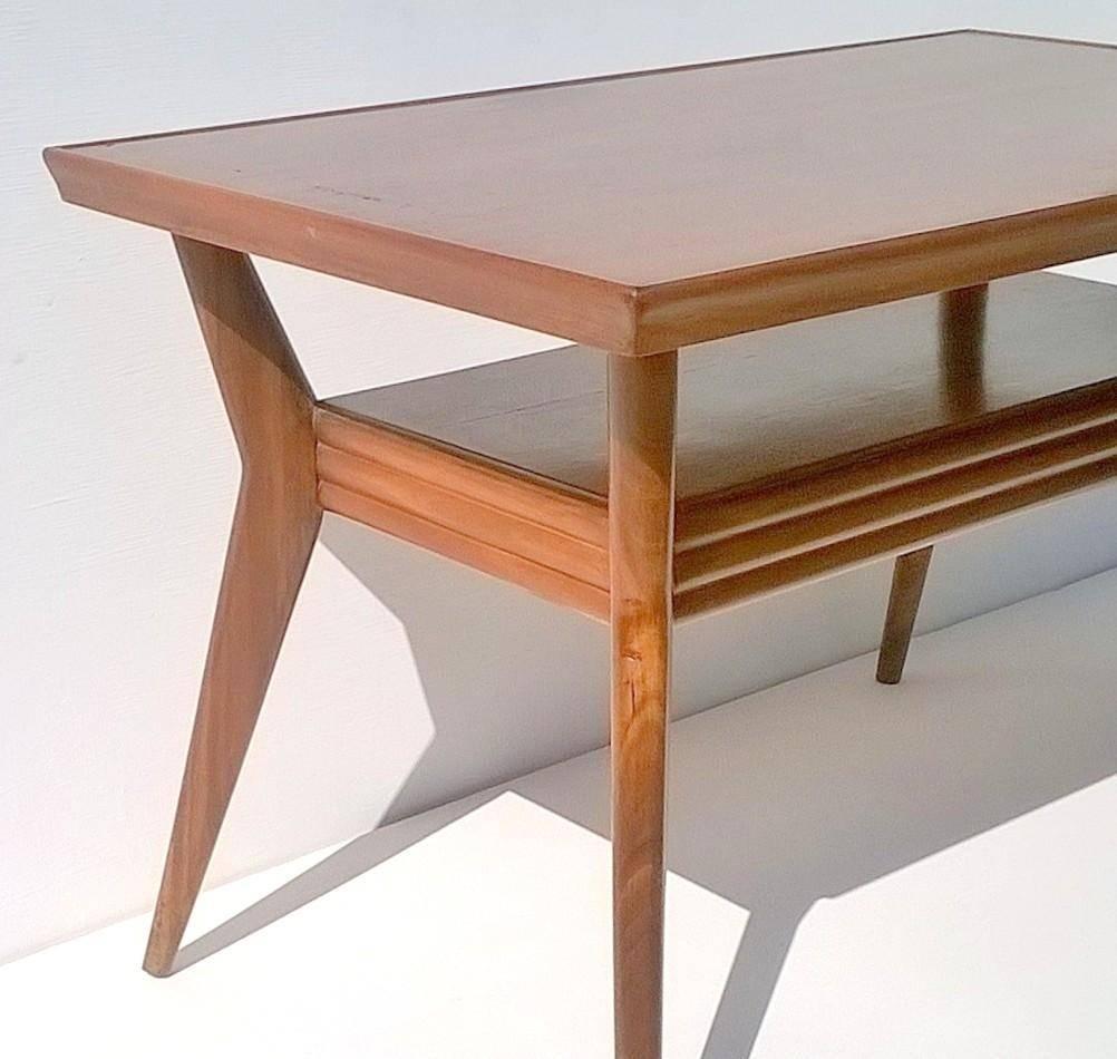Art Deco Italian Mahogany Coffee Table, 1930S For Sale At Pamono within Mahogany Coffee Tables (Image 3 of 30)