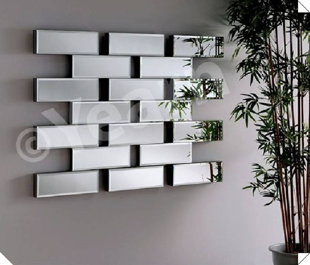 Art Deco - Maze Large Brick Style Wall Mirror - Ireland pertaining to Large Art Deco Wall Mirrors (Image 4 of 25)