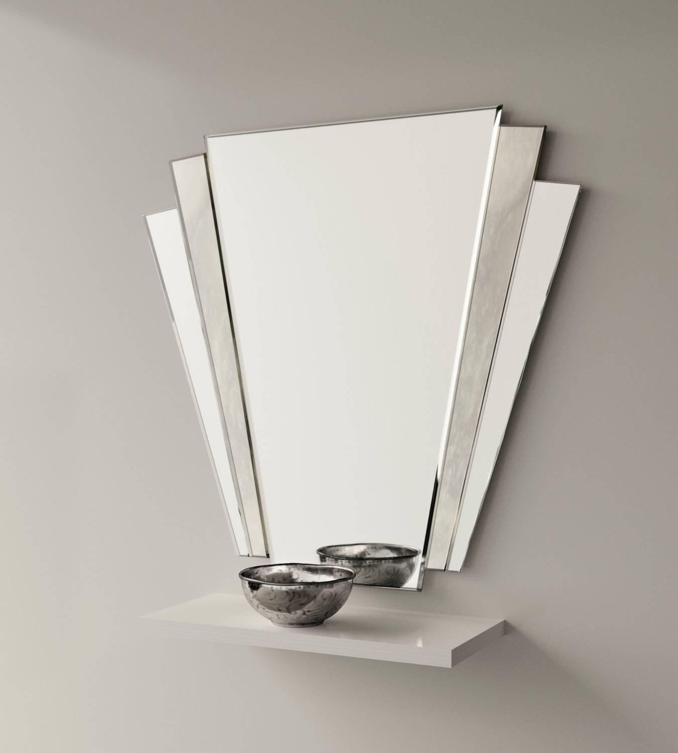 Art Deco Mirror. 1930S Inspired Art Deco Wall Mirror With pertaining to Art Deco Style Mirrors (Image 4 of 25)