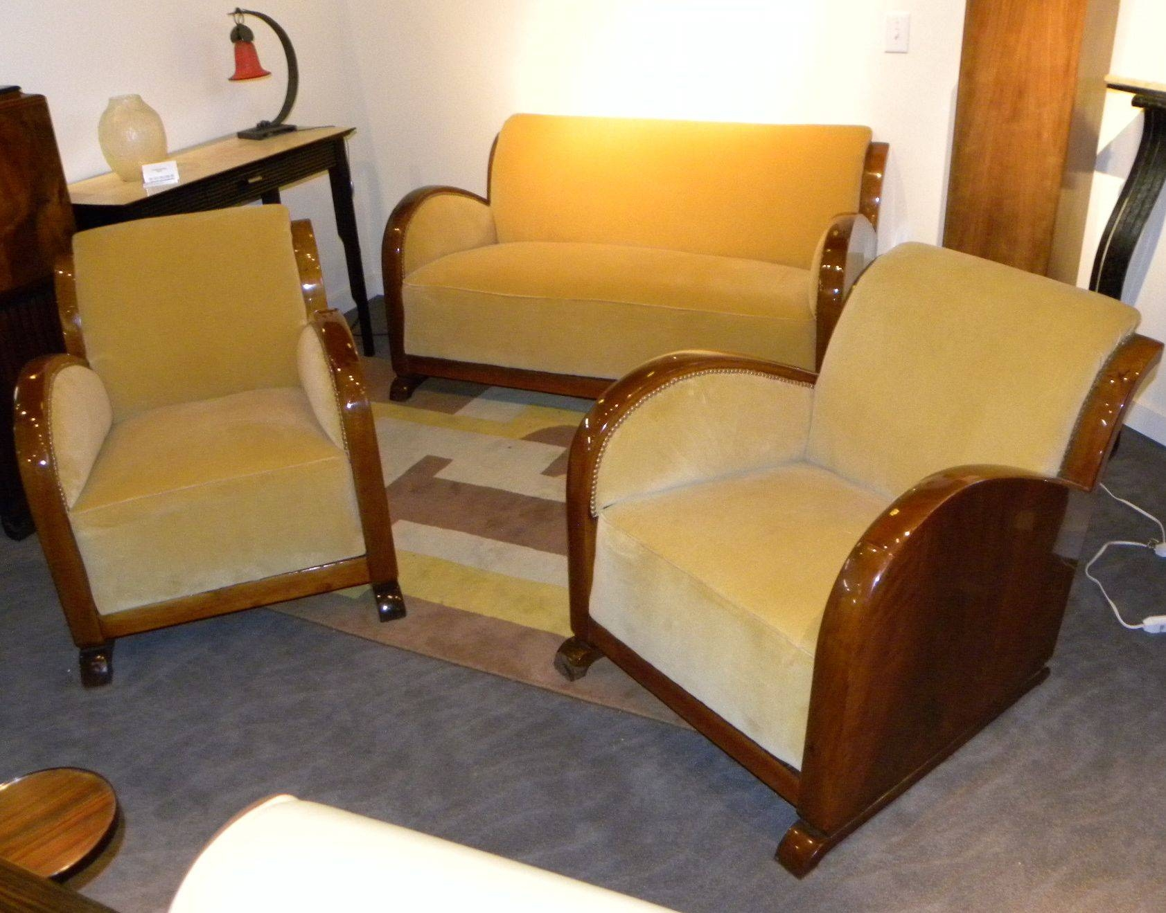 Art Deco Sofa And Chairs | Sofas Decoration regarding Art Deco Sofa And Chairs (Image 6 of 15)
