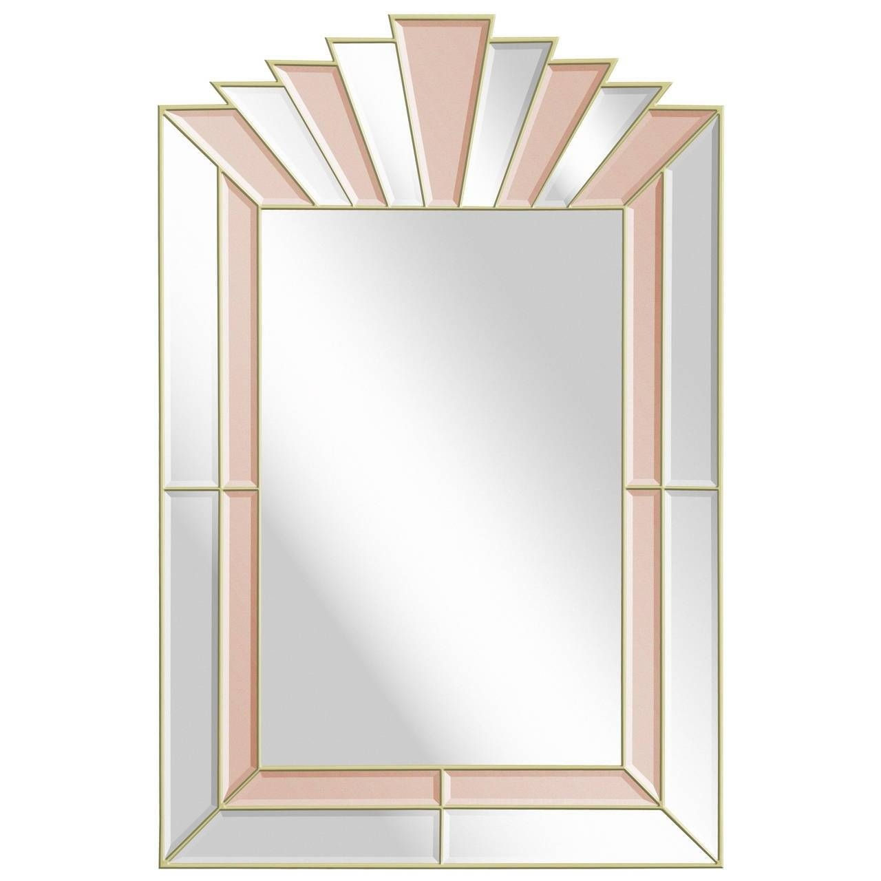 Art Deco Style Mirror With Clear And Champagne Tinted Mirrored pertaining to Art Deco Mirrors (Image 9 of 25)
