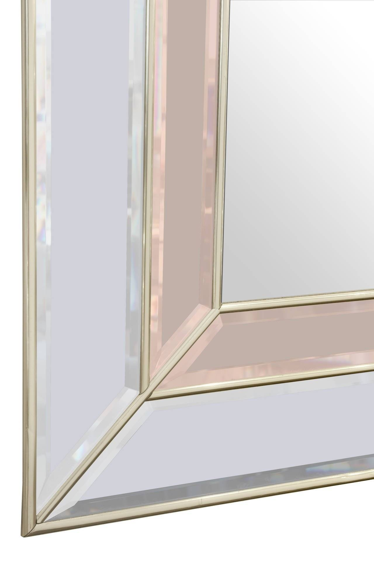 Art Deco Style Mirror With Clear And Champagne Tinted Mirrored with regard to Art Deco Style Mirrors (Image 11 of 25)