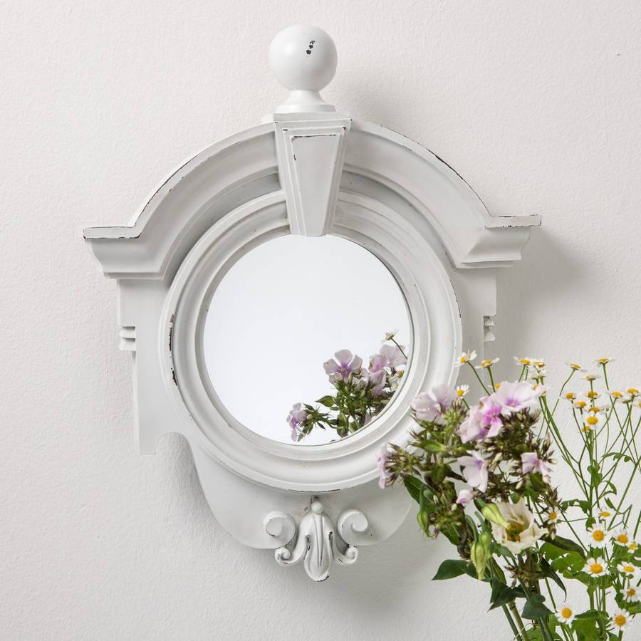 Art Deco Style White Mirrorhand Crafted Mirrors for Art Deco Style Mirrors (Image 12 of 25)
