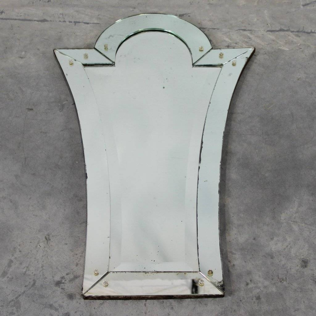 Art Deco Venetian Mirror For Sale At Pamono throughout Art Deco Venetian Mirrors (Image 7 of 25)