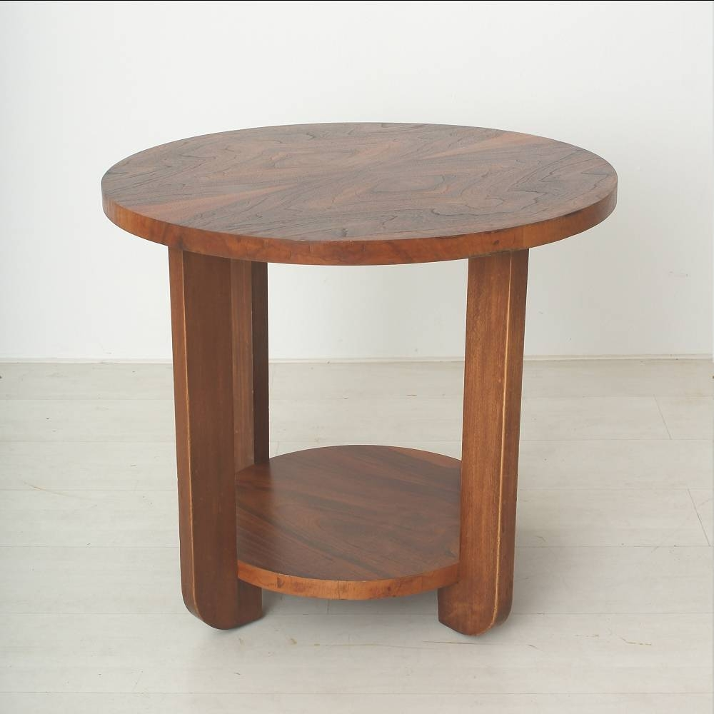 Art Deco Walnut & Beech Coffee Table For Sale At Pamono with Round Beech Coffee Tables (Image 1 of 30)