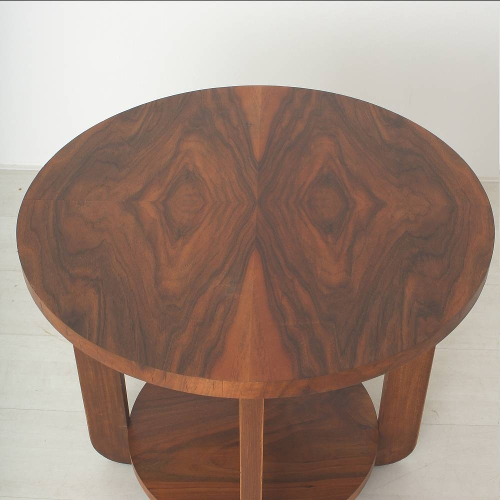 Art Deco Walnut & Beech Coffee Table For Sale At Pamono within Round Beech Coffee Tables (Image 2 of 30)