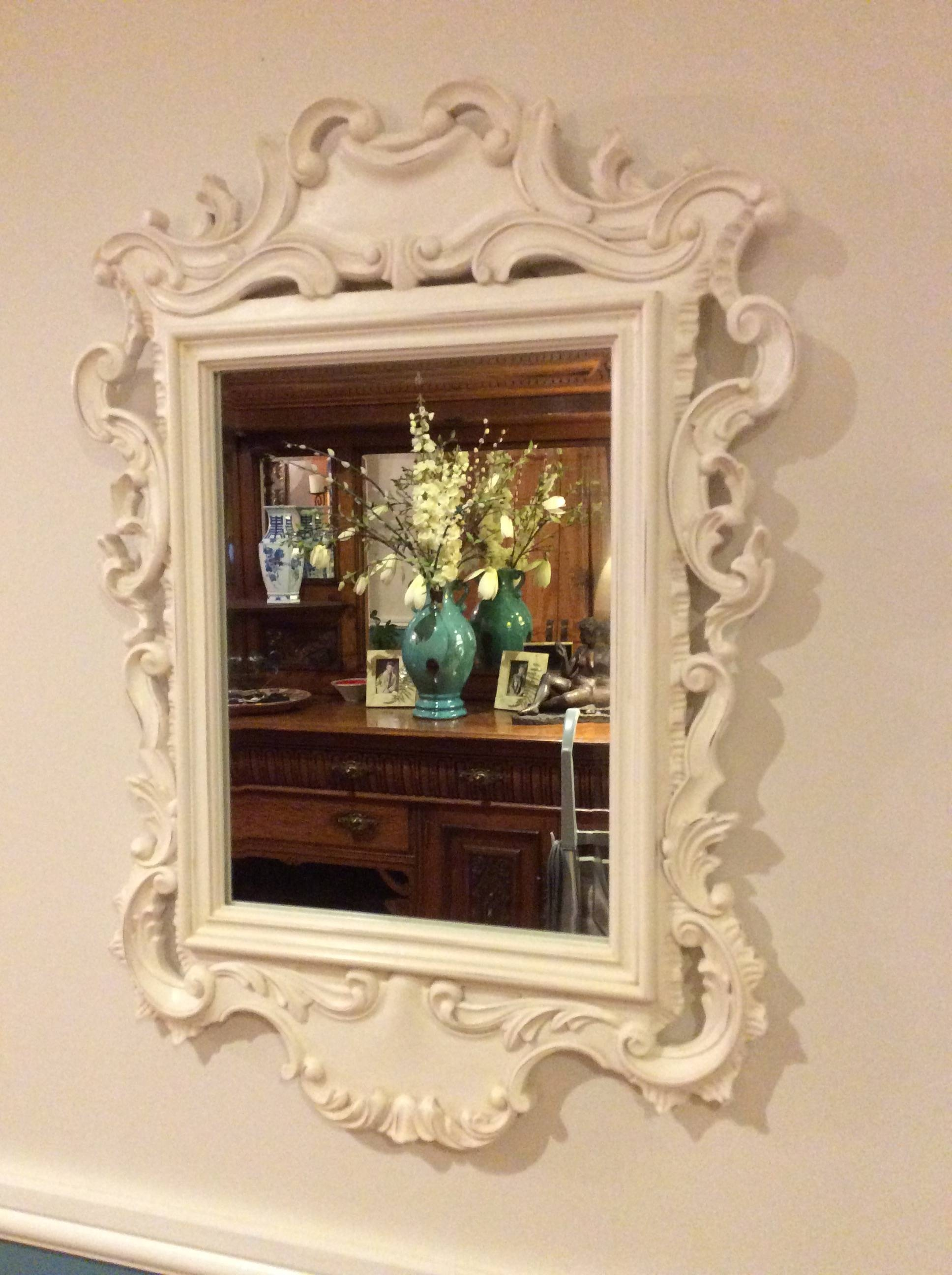 Art & Mirrors.. – Sue's Vintage Finds with White Rococo Mirrors (Image 10 of 25)