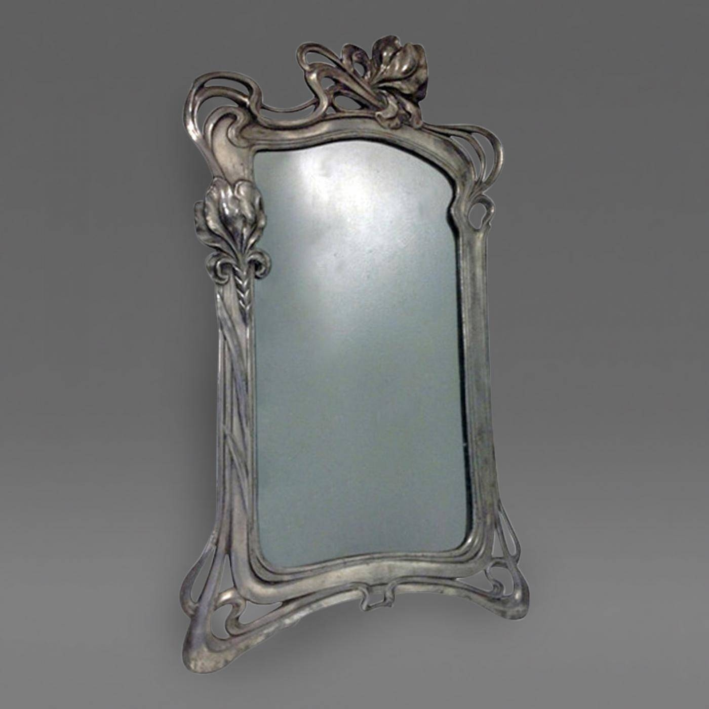 Art Nouveau Mirror Argentor C.1900 regarding Art Nouveau Mirrors (Image 8 of 25)