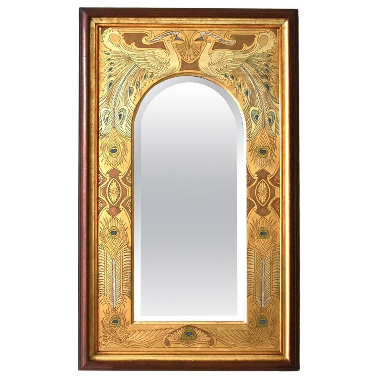 Art Nouveau Wall Mirrors - 53 For Sale At 1Stdibs throughout Art Nouveau Mirrors (Image 13 of 25)