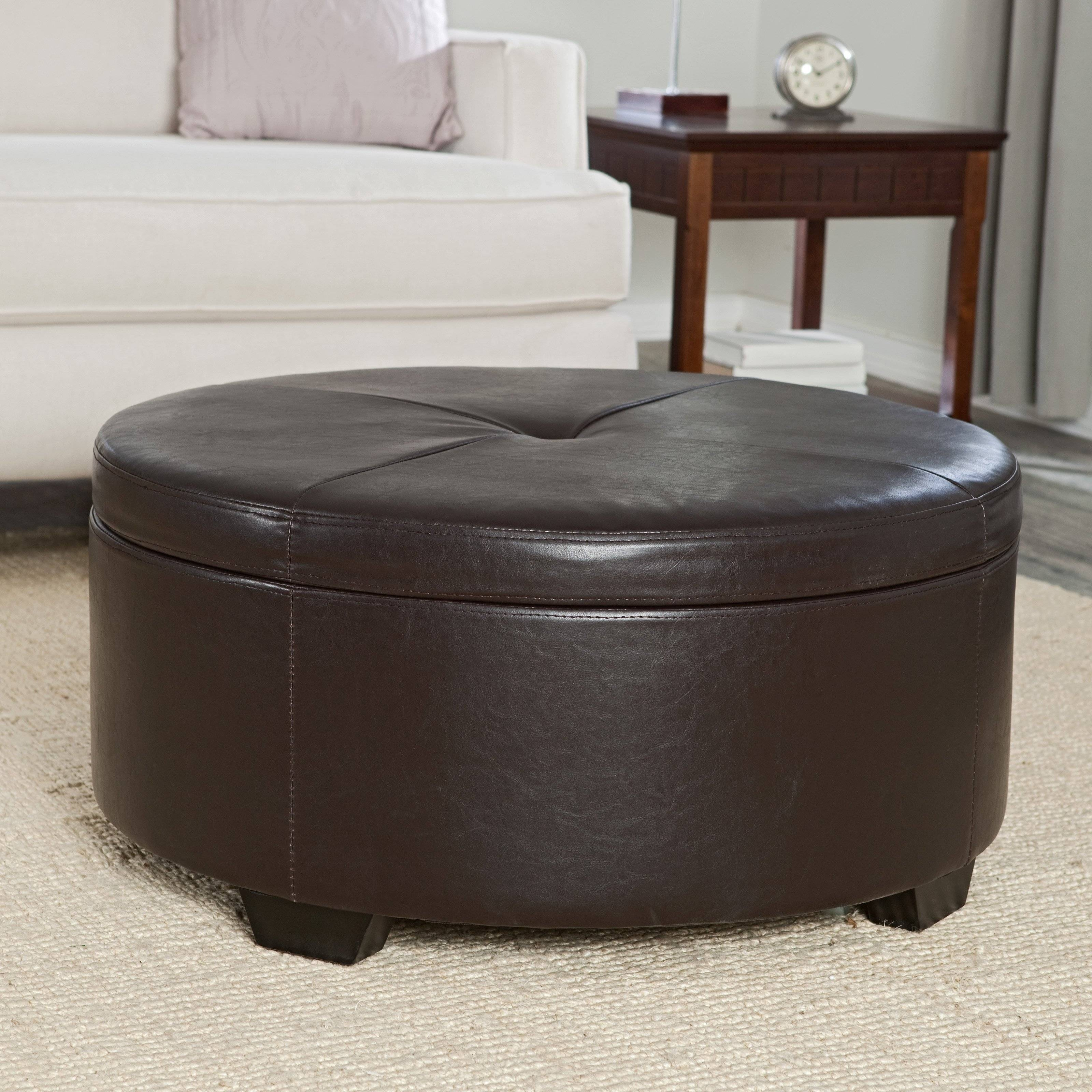 Artistic Tufted Coffee Table For Living Room — Unique Hardscape Design with Round Red Coffee Tables (Image 1 of 30)