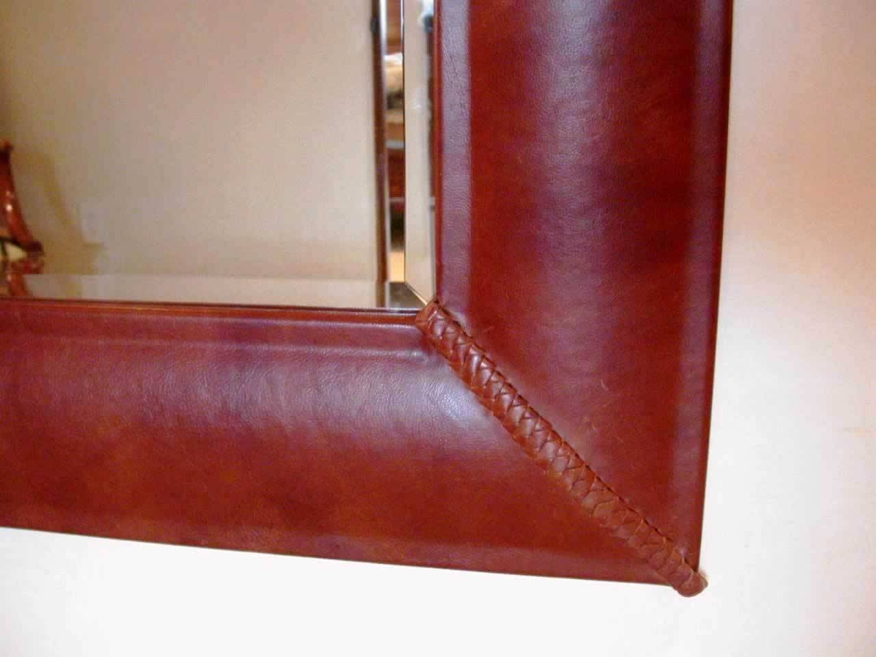 Artwest: Custom Leather, Copper, Wood And Steel Designs To Fit Any For Leather Wall Mirrors (View 11 of 25)