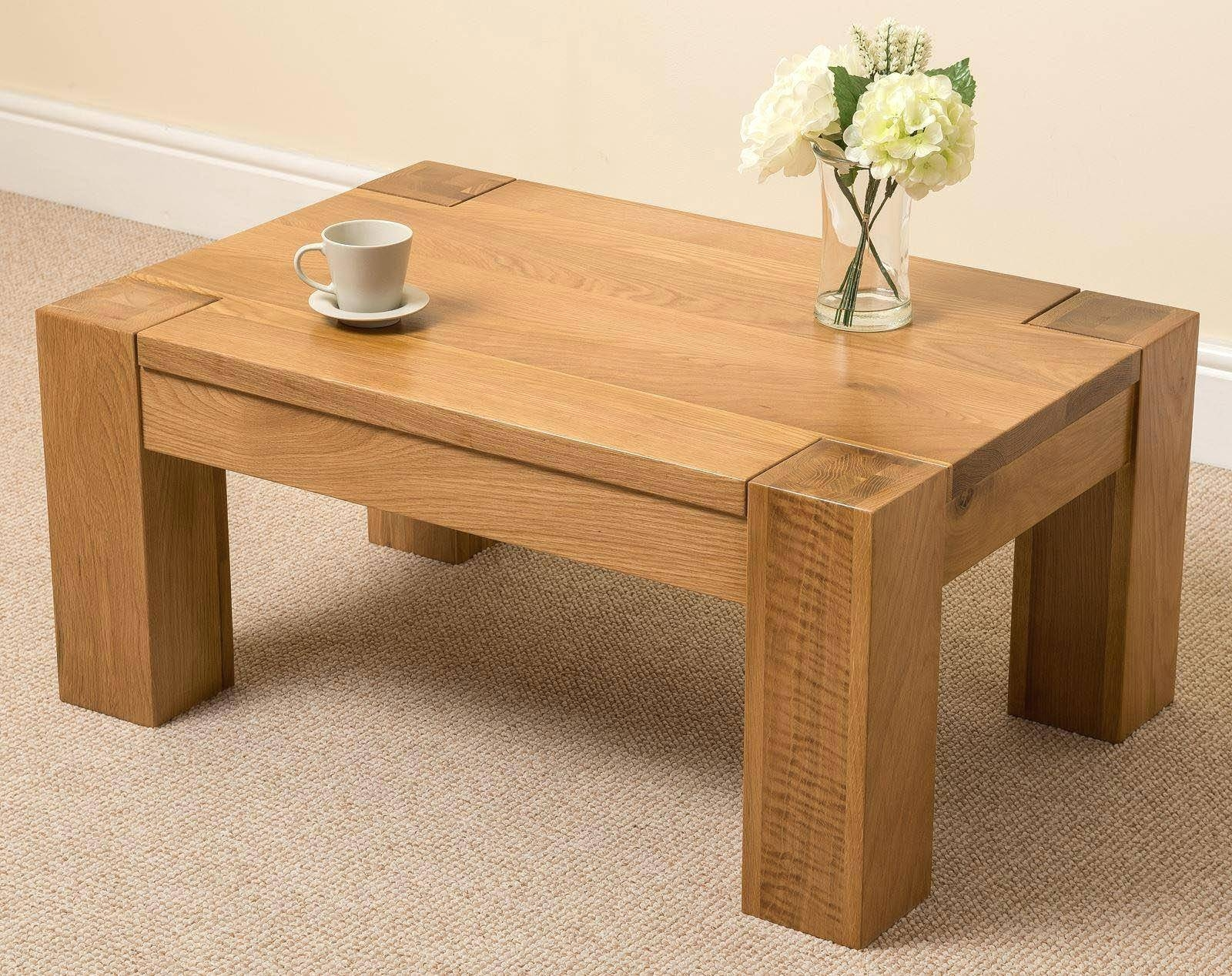 Aruba Solid Pine Coffee Table With Drawer | Coffee Tables Decoration inside Square Pine Coffee Tables (Image 3 of 30)