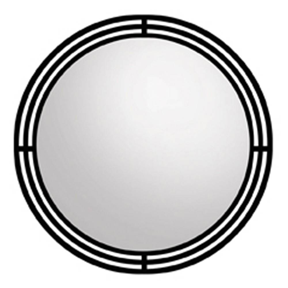 Asana Round Wrougth Iron Framed Wall Mirror Mr708 | Native Trails for Black Round Mirrors (Image 3 of 25)