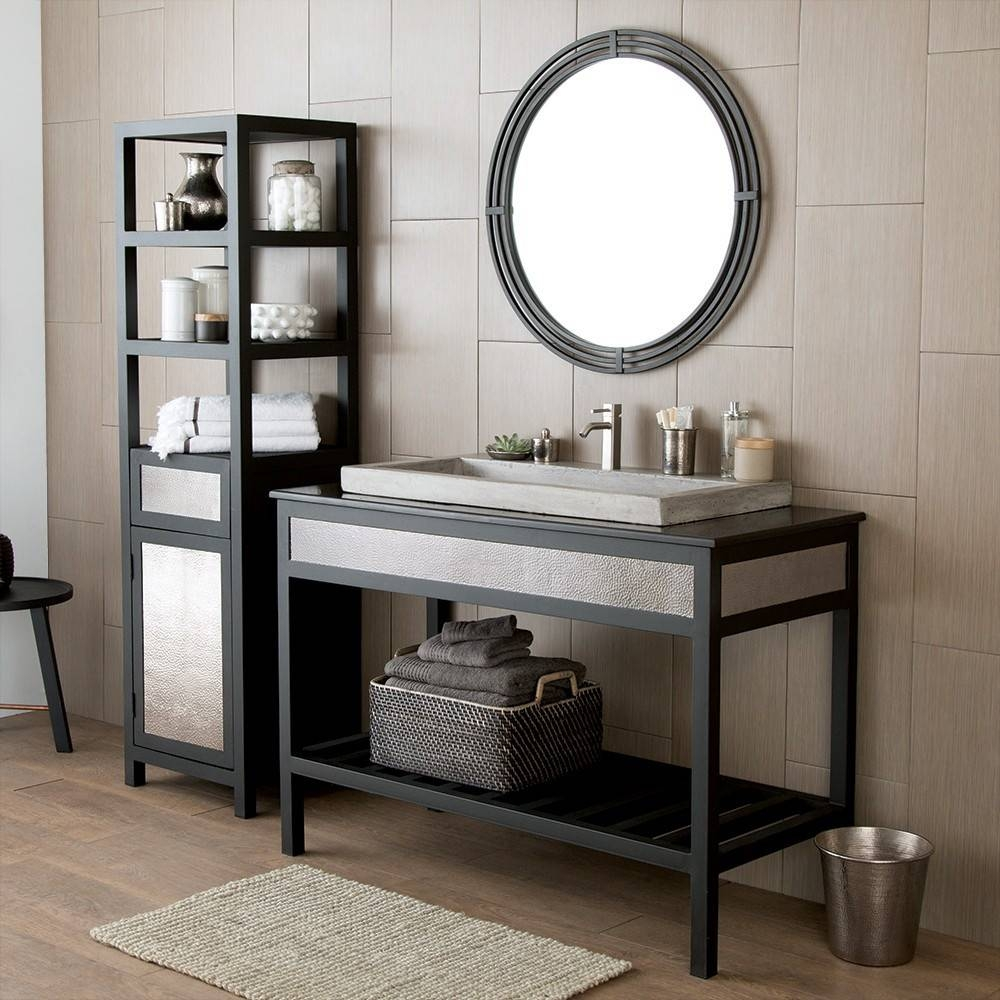 Asana Round Wrougth Iron Framed Wall Mirror Mr708 | Native Trails for Black Wrought Iron Mirrors (Image 4 of 25)
