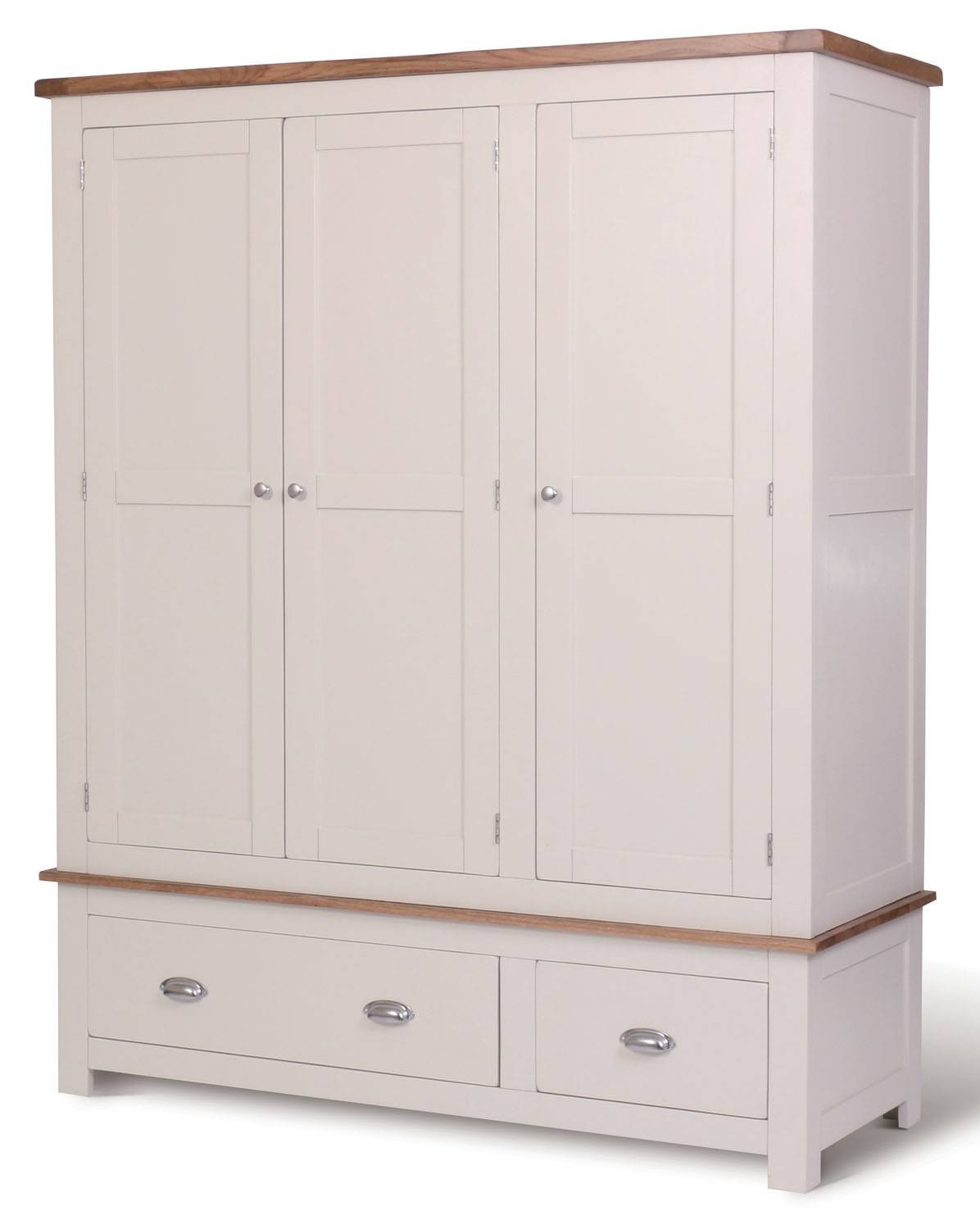 Ascot Triple Wardrobe With Drawers - Wardrobes - Bedroom | Hallowood throughout Triple Wardrobes With Drawers (Image 3 of 15)