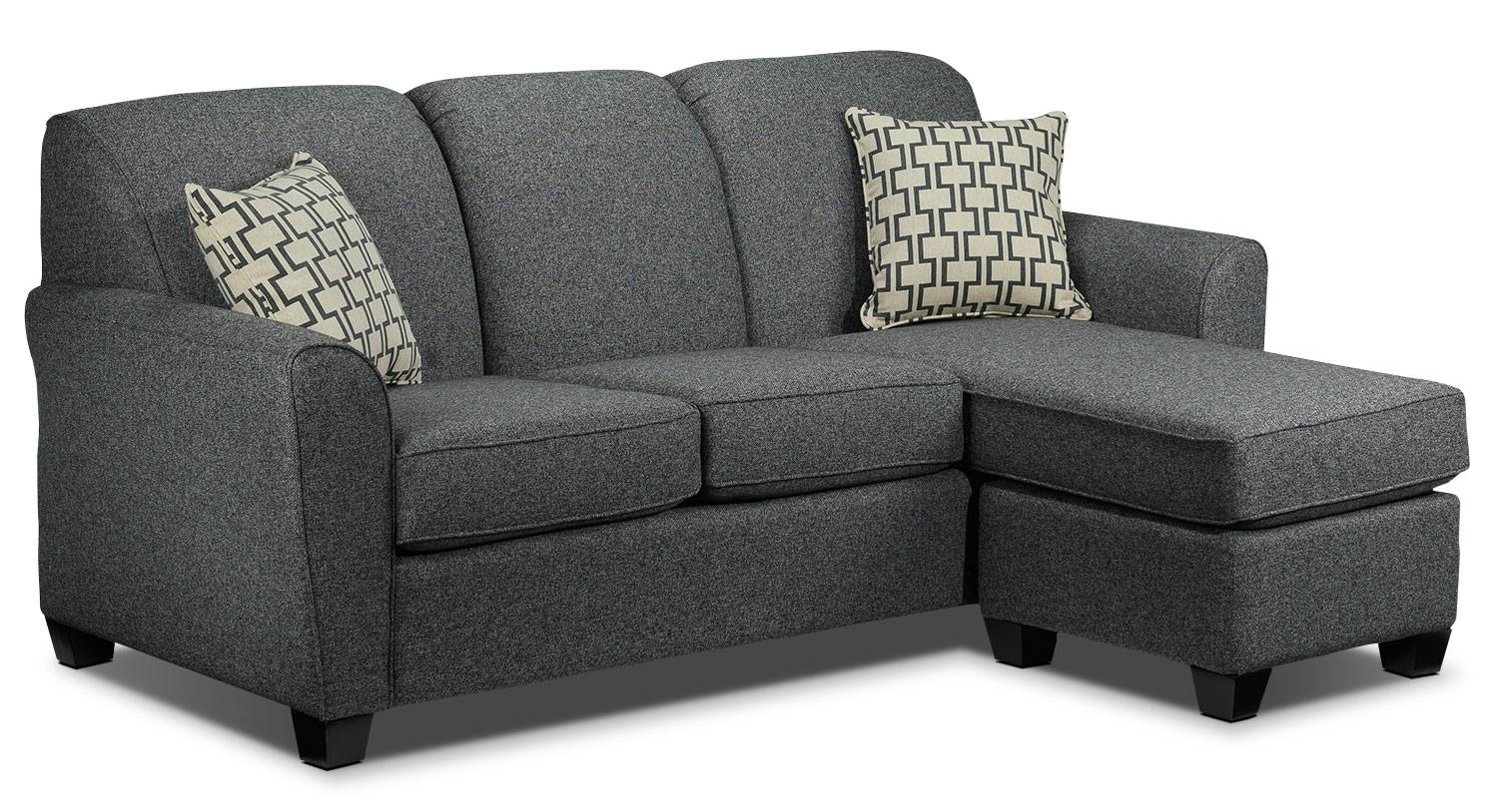 Ashby Chaise Sofa - Grey | Leon's within Chaise Sofa Chairs (Image 1 of 15)