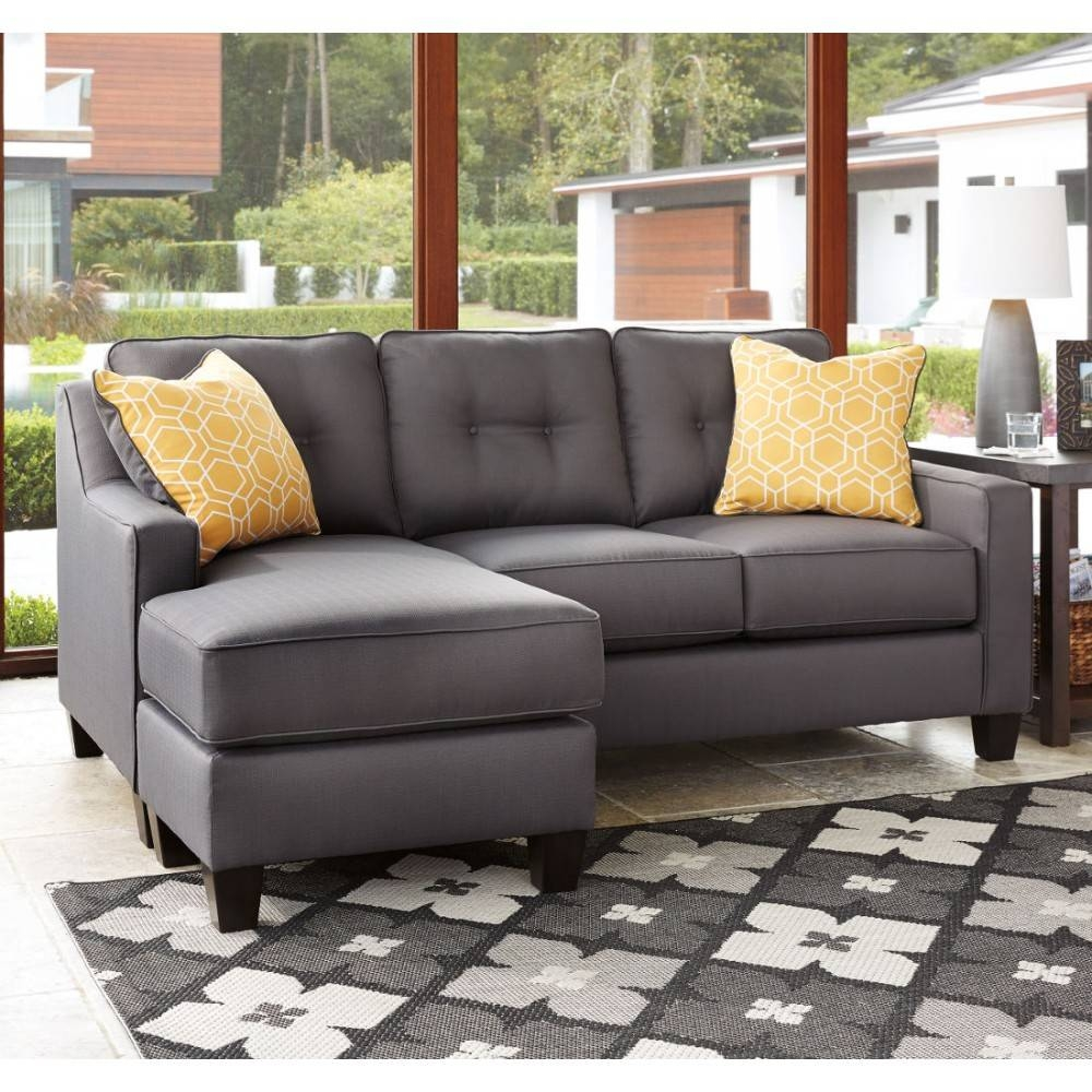Ashley Furniture Aldie Nuvella Sofa Chaise In Gray | Local for Ashley Furniture Gray Sofa (Image 1 of 30)