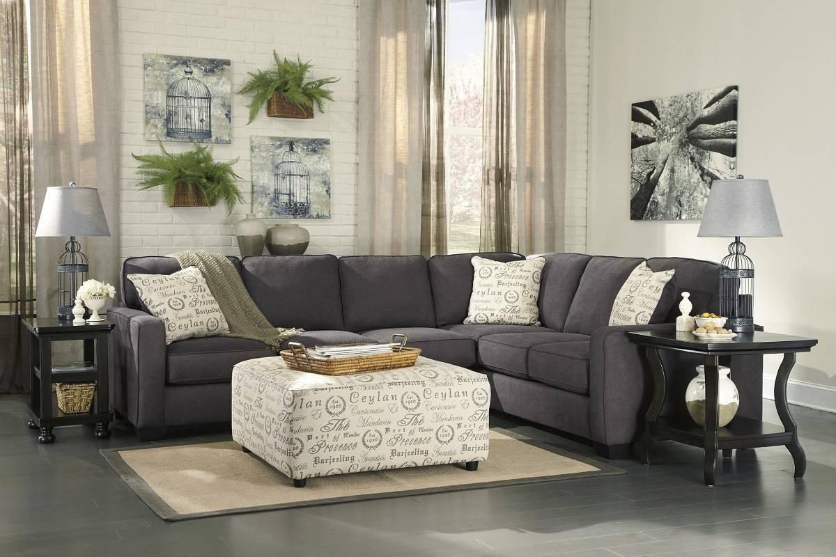 Ashley Furniture Alenya Sectional 16601 Grey Track Arm Sofa San throughout Sectional Sofa San Diego (Image 1 of 30)