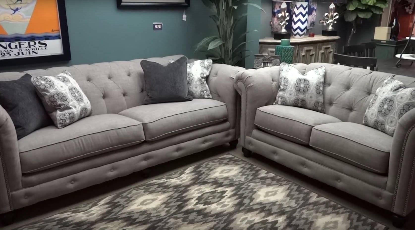 Ashley Furniture Azlyn Sepia Tufted Sofa & Loveseat 994 Review with Ashley Tufted Sofa (Image 1 of 30)