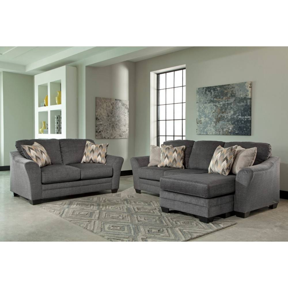Ashley Furniture Braxlin Livingroom Set In Charcoal | Local throughout Ashley Furniture Gray Sofa (Image 3 of 30)