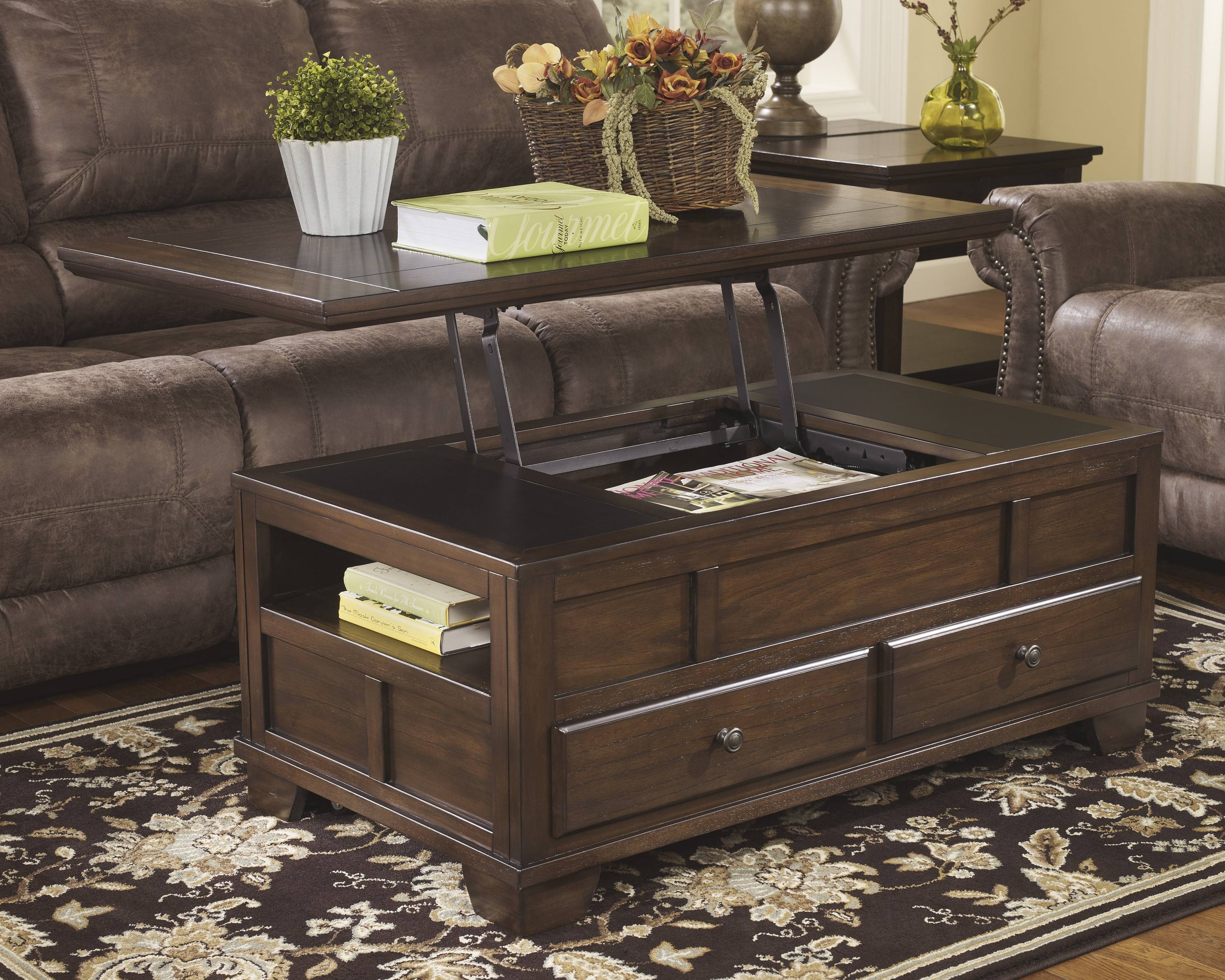 Ashley Furniture Coffee Table Lift Top | Coffee Tables Decoration with Flip Top Coffee Tables (Image 2 of 30)