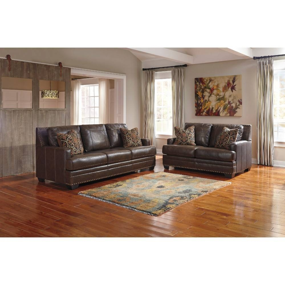Ashley Furniture Corvan Livingroom Set In Antique | Local throughout Antique Sofa Chairs (Image 8 of 30)
