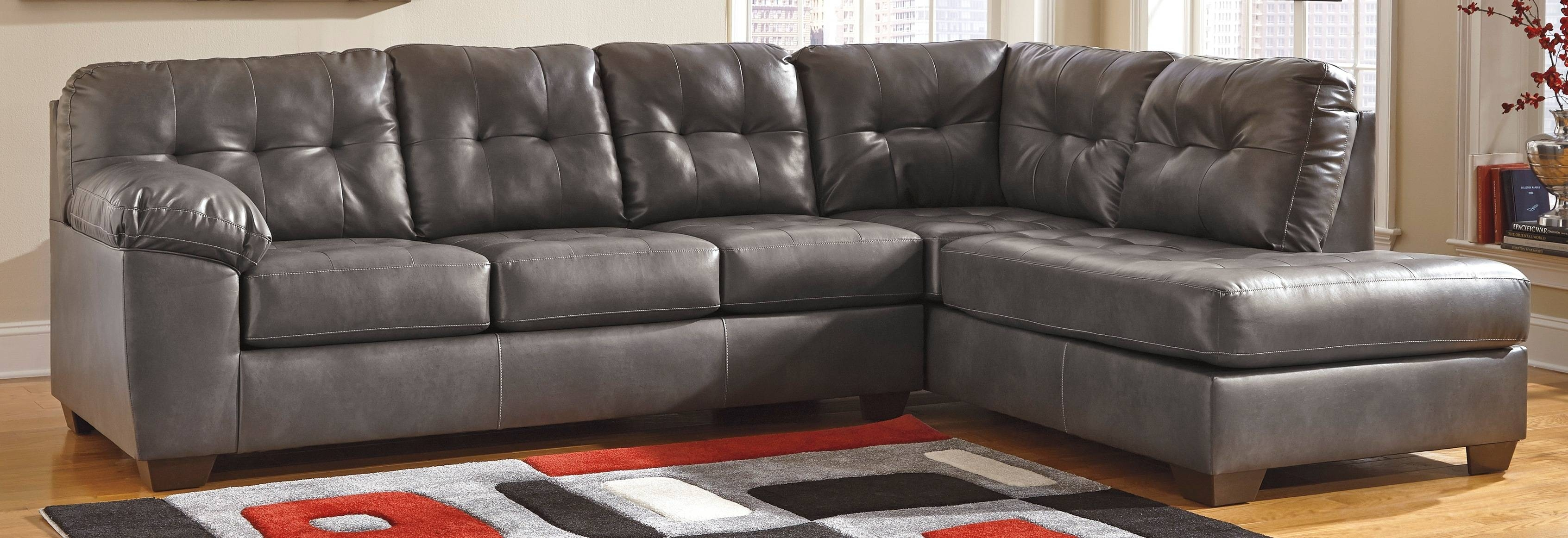 Ashley Furniture Gray Sofa. Rooms To Go Loveseat Ashley Furniture intended for Gray Leather Sectional Sofas (Image 1 of 30)