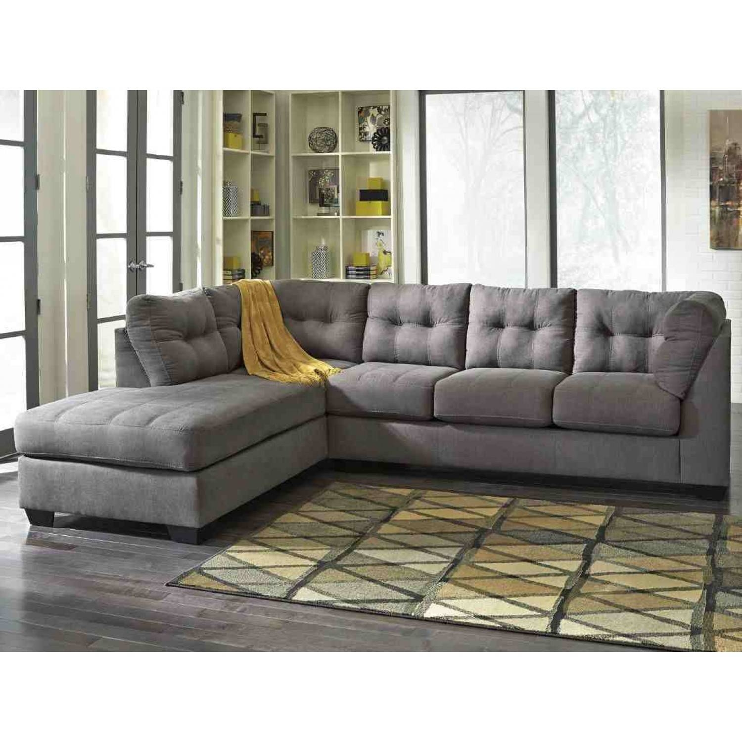 Ashley Furniture Maier Sectional In Charcoal | Local Furniture Outlet inside Ashley Furniture Gray Sofa (Image 8 of 30)