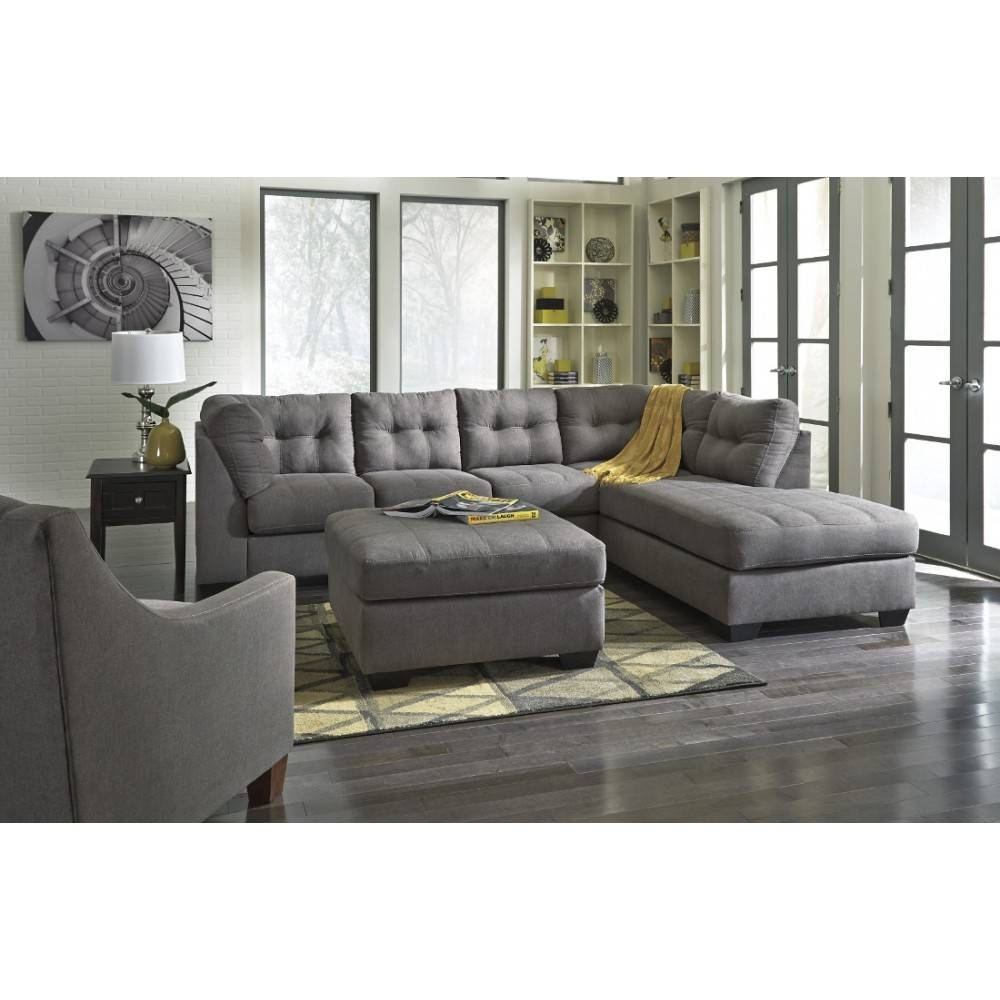 Ashley Furniture Maier Sectional In Charcoal | Local Furniture Outlet With Ashley Tufted Sofa (Image 5 of 30)