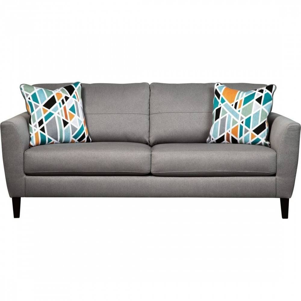 Ashley Furniture Pelsor Sofa In Gray pertaining to Ashley Furniture Gray Sofa (Image 9 of 30)