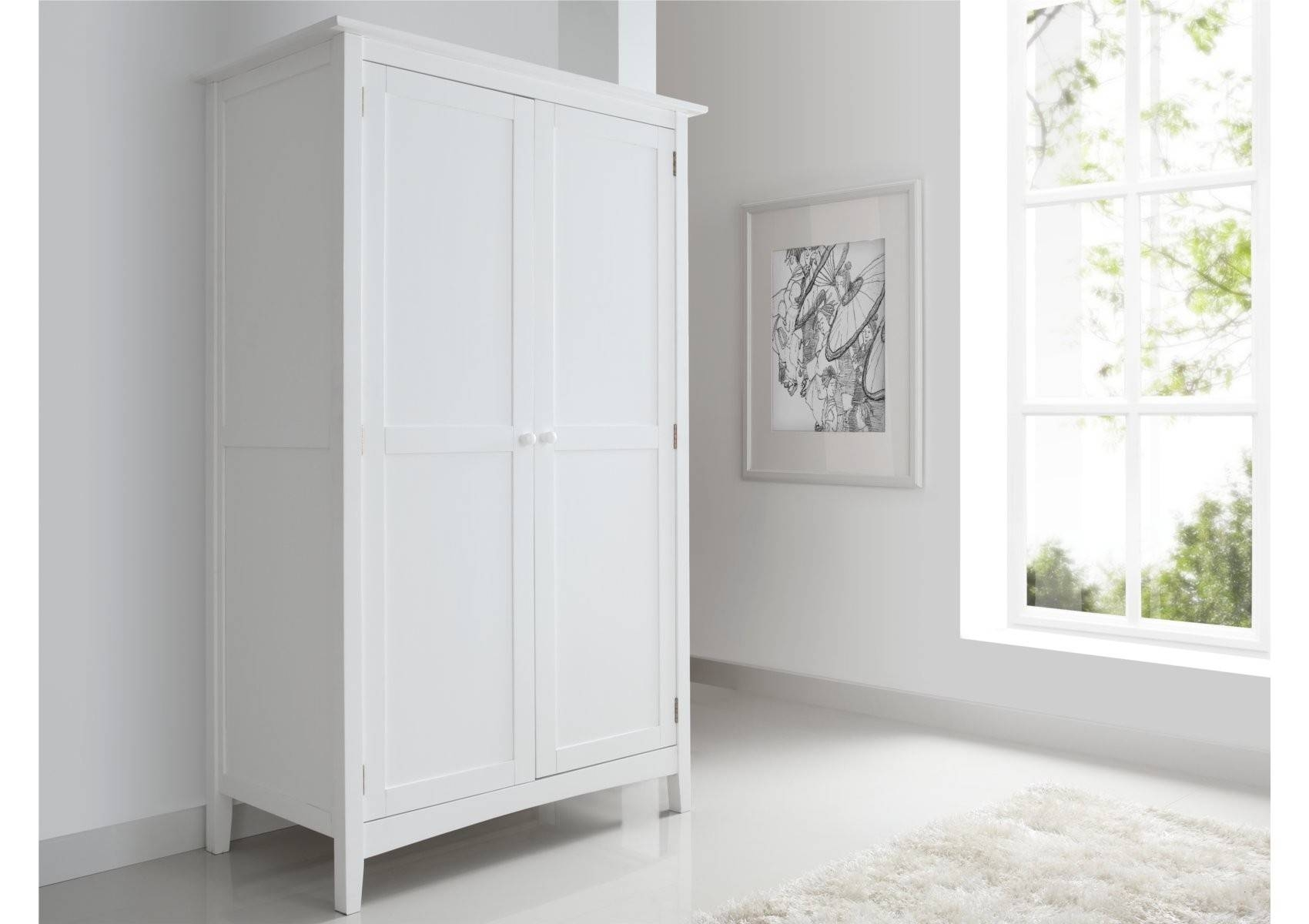 Aspen 2 Door, 1 Drawer Wardrobe - Furniture with regard to White Wood Wardrobes With Drawers (Image 1 of 15)