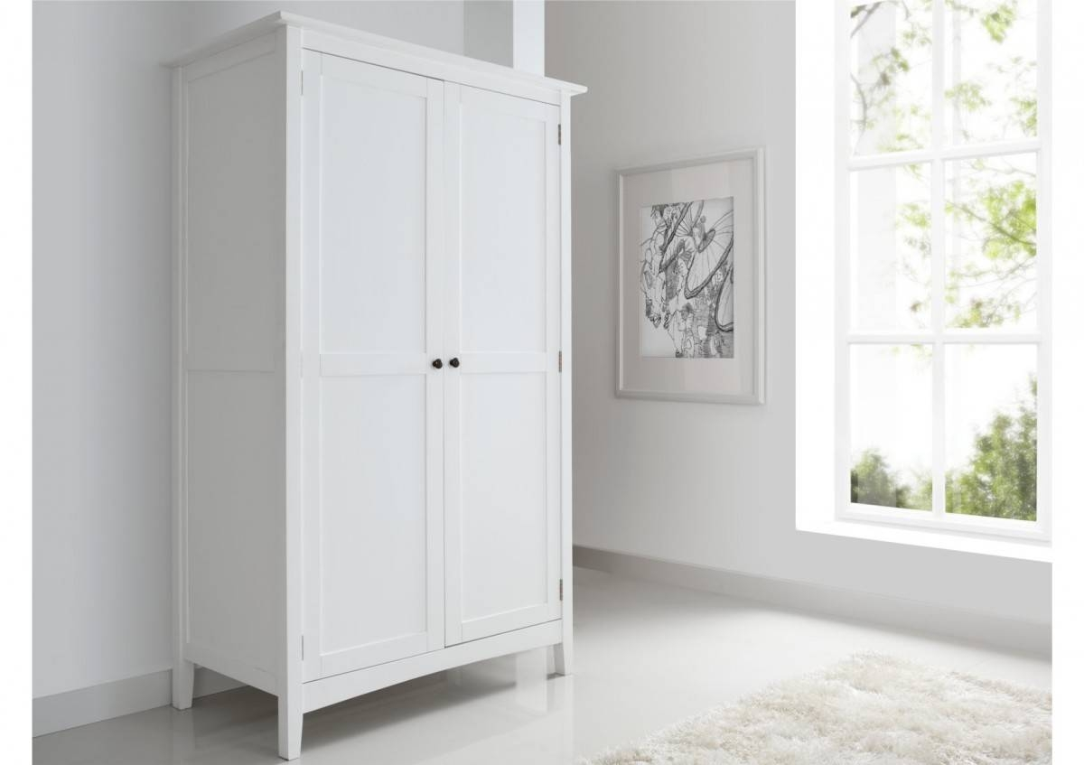Aspen 2 Door, 1 Drawer Wardrobe - Wardrobes - Furniture inside White Wood Wardrobes (Image 1 of 15)