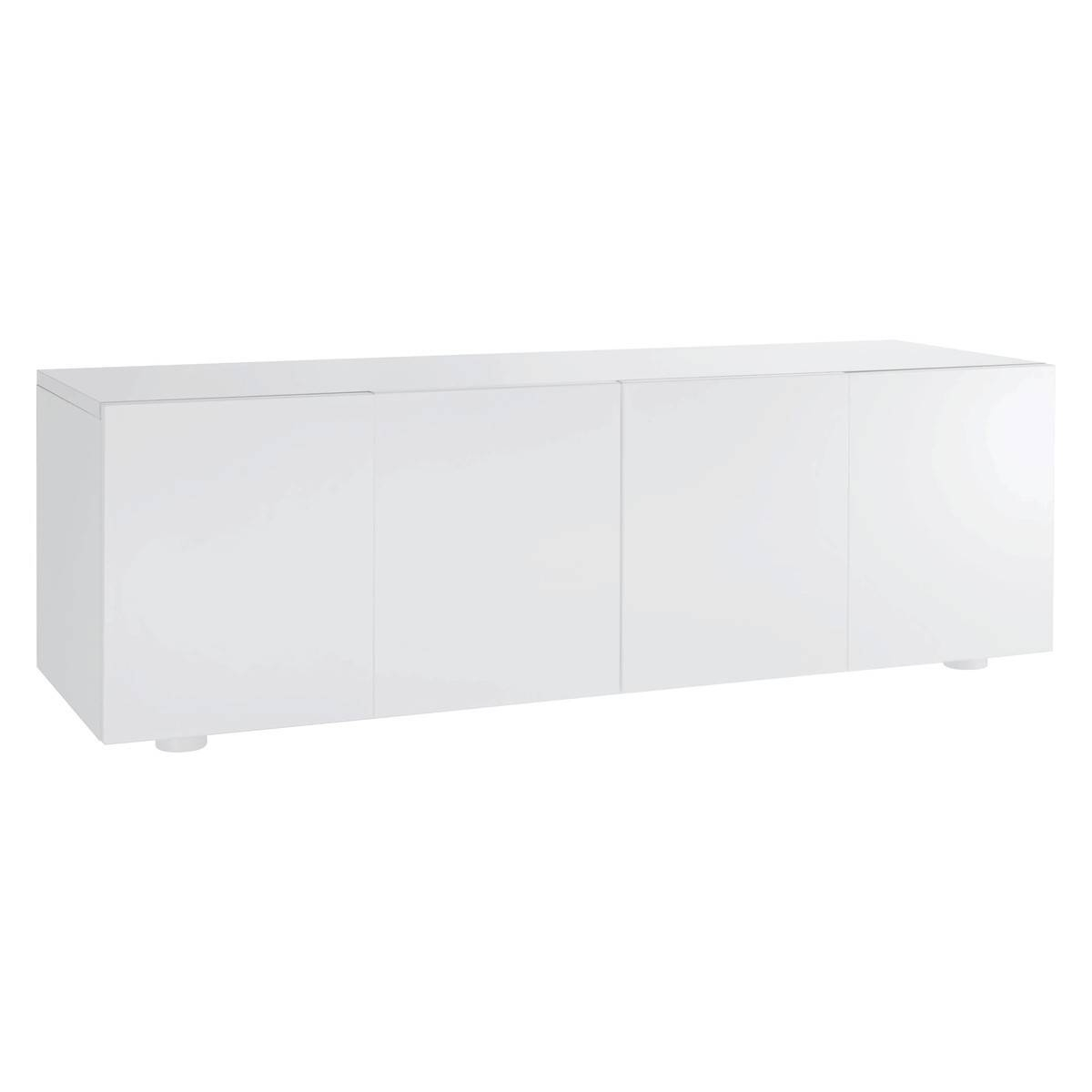 Aspen White High Gloss Long Cabinet | Buy Now At Habitat Uk intended for White High Gloss Sideboards (Image 1 of 30)