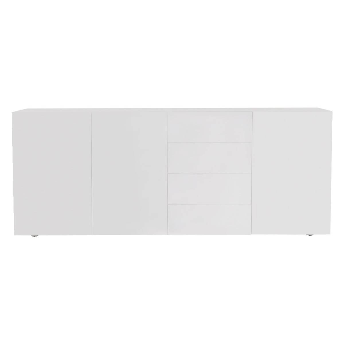 Aspen White High Gloss Sideboard | Buy Now At Habitat Uk regarding Gloss White Sideboards (Image 2 of 30)