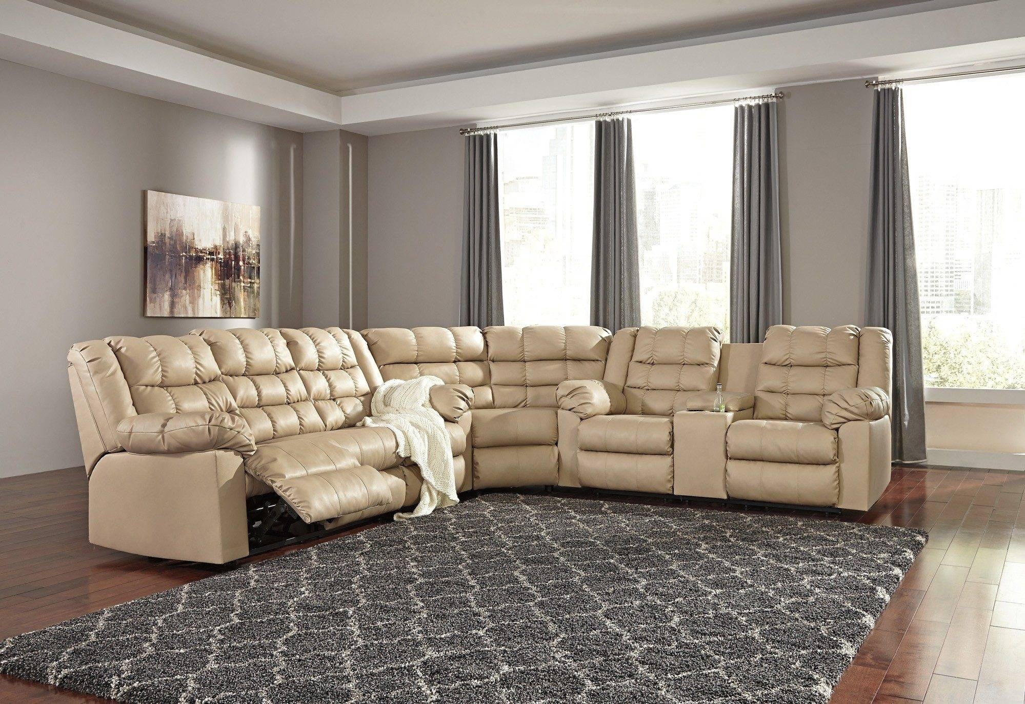 Astonishing 3 Piece Sectional Sofa With Recliner 35 For Your intended for Sectional Sofas Portland (Image 3 of 30)