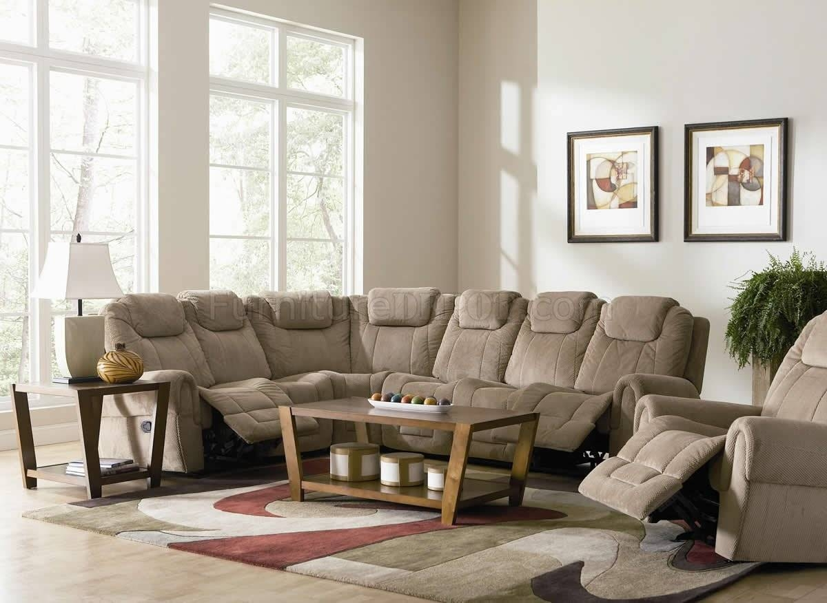 Astounding Fabric Sectional Sofa With Recliner 38 For Your Cozy in Cozy Sectional Sofas (Image 2 of 30)