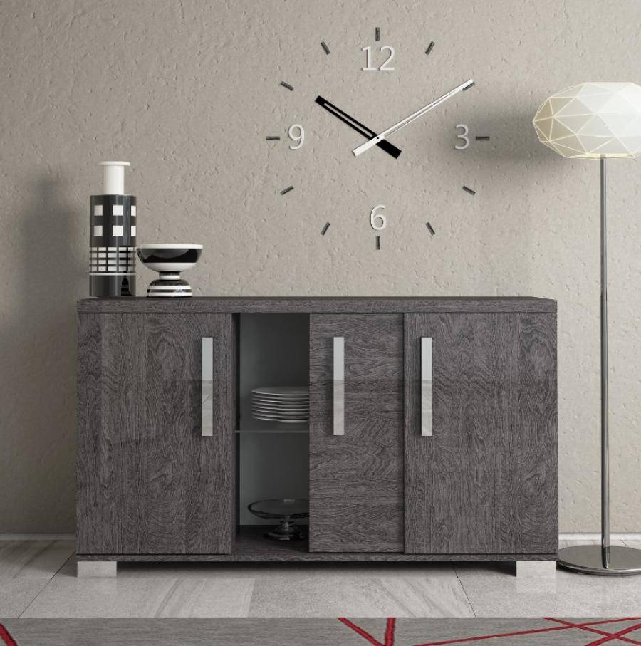Astounding Modern Dark Grey Oak Sideboard Design With Stacked within Dark Grey Sideboards (Image 4 of 30)