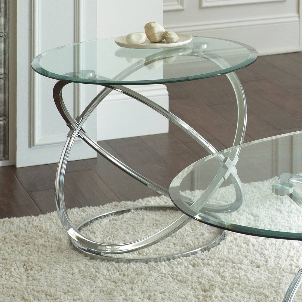 Atemberaubend Steve Silver Orion 3 Piece Glass Top Coffee Table With Glass And Silver Coffee Tables (View 2 of 30)
