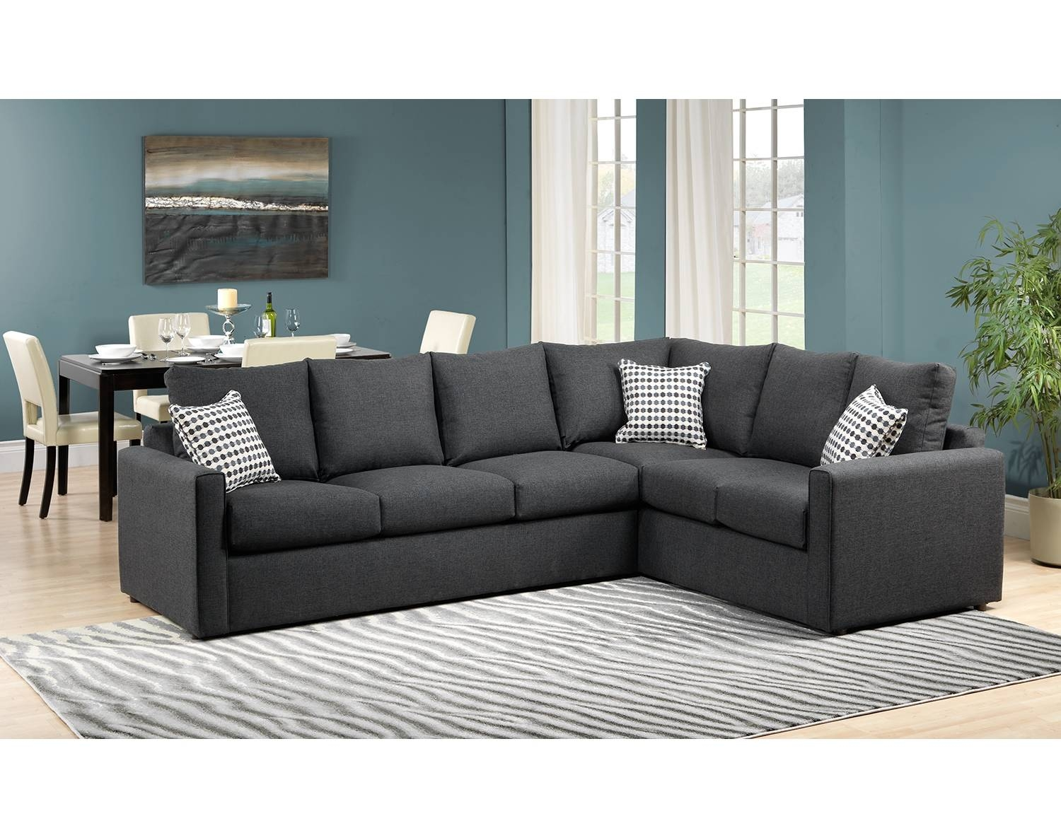 Athina 2-Piece Left-Facing Queen Sofa Bed Sectional - Charcoal pertaining to Sofa Beds Queen (Image 1 of 30)