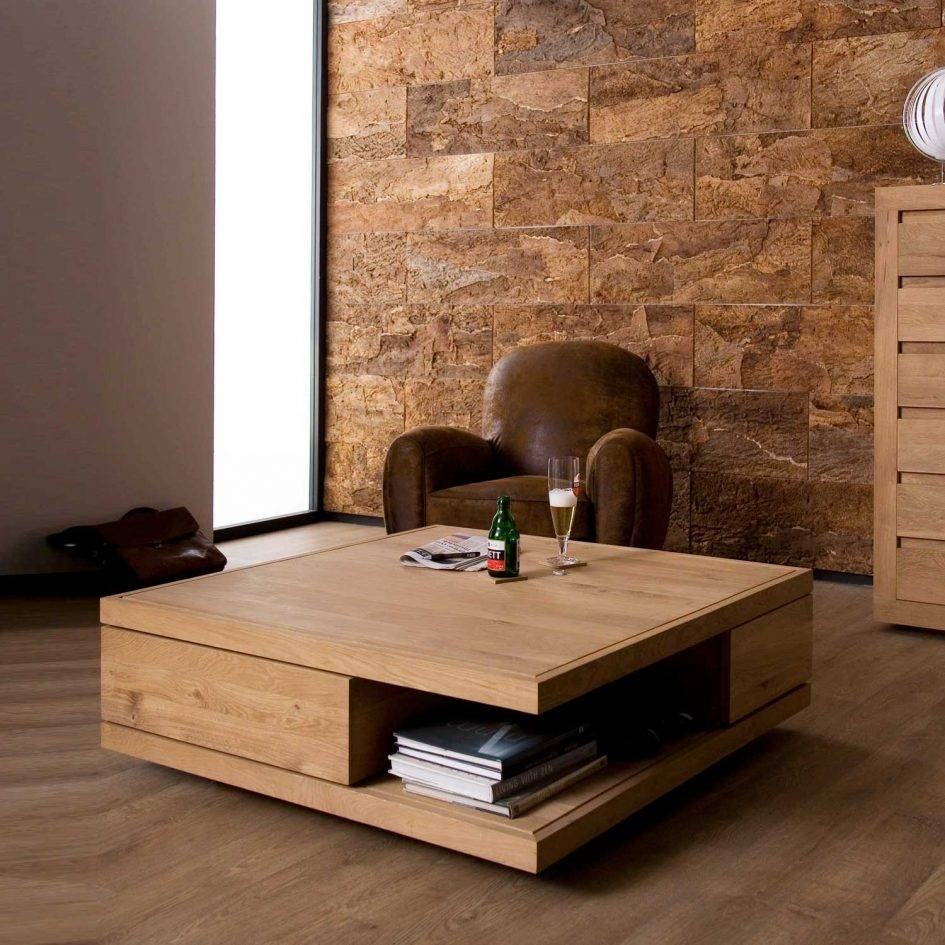 Attractive Contemporary Wooden Coffee Tables Accent Tables with Square Oak Coffee Tables (Image 3 of 30)
