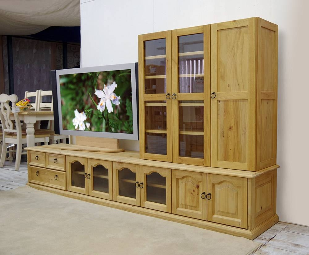 Auc Banjo | Rakuten Global Market: Width 240 Cm Pine Solid Wood Throughout Sideboards And Tv Stands (View 3 of 30)