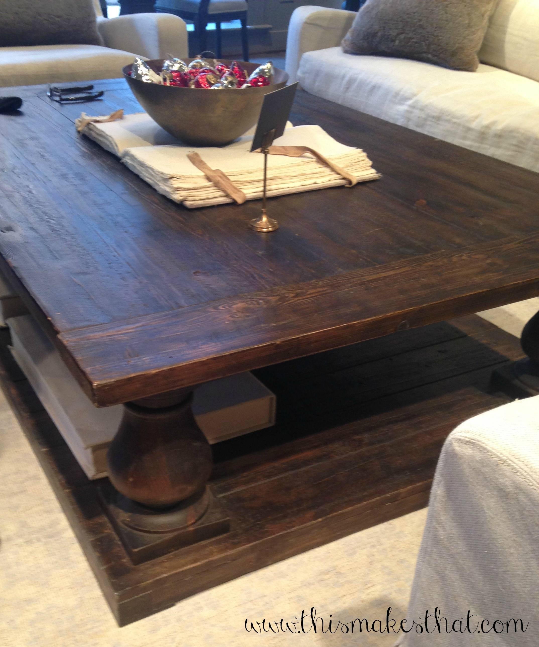 Pottery Barn Coffee Table Canada: 30 Photos Rustic Style Coffee Tables