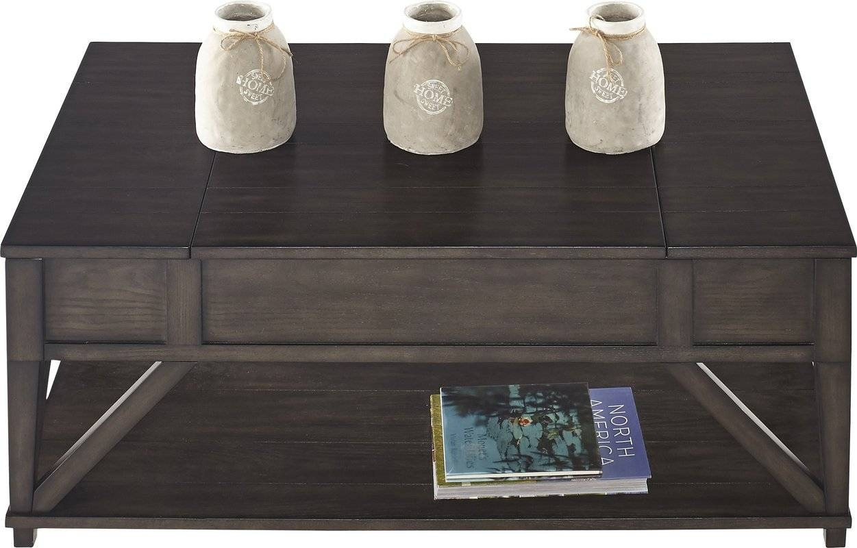 August Grove Clark Fork Coffee Table With Lift Top & Reviews | Wayfair for Waverly Lift Top Coffee Tables (Image 3 of 30)