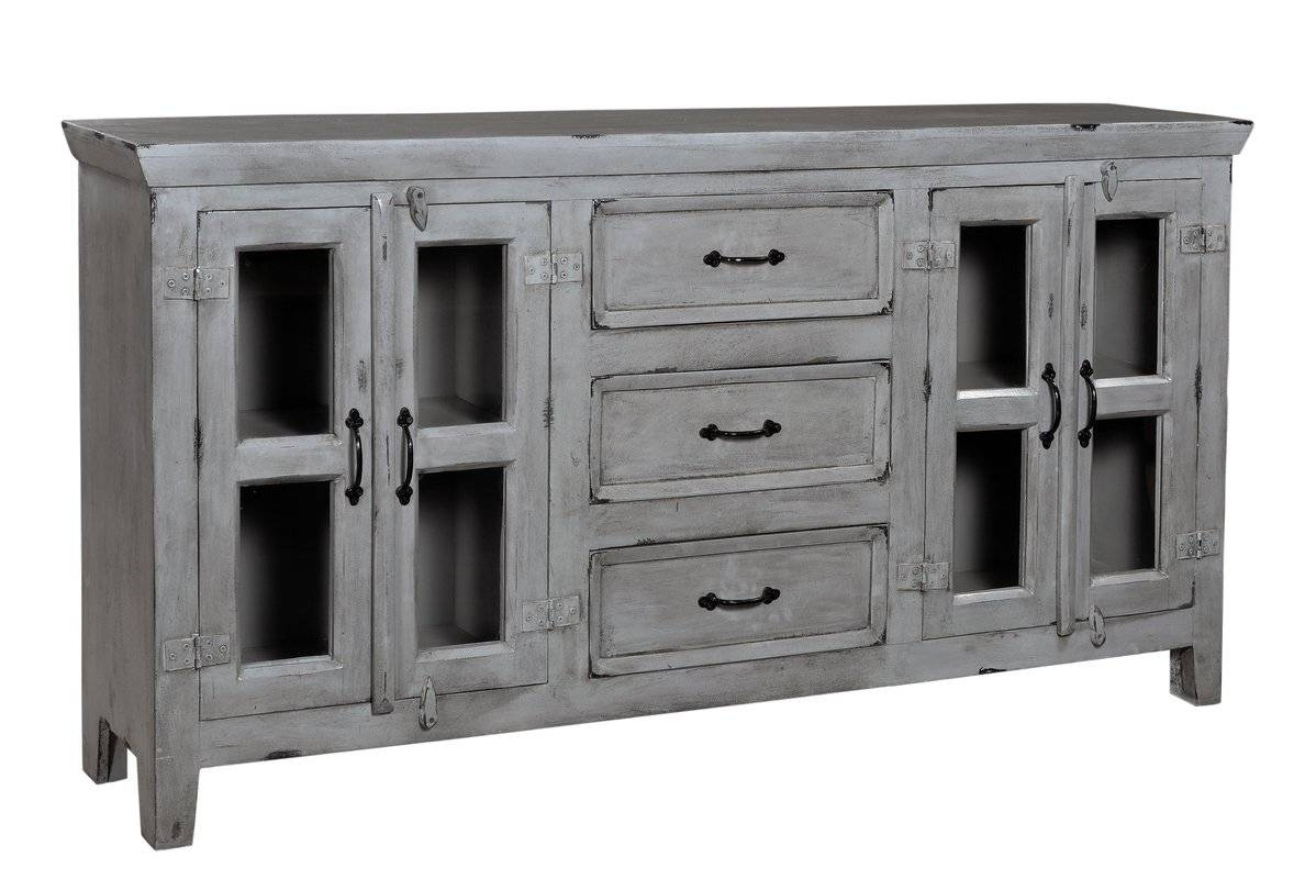 August Grove Sideboard & Reviews | Wayfair throughout Grey Sideboards (Image 3 of 30)