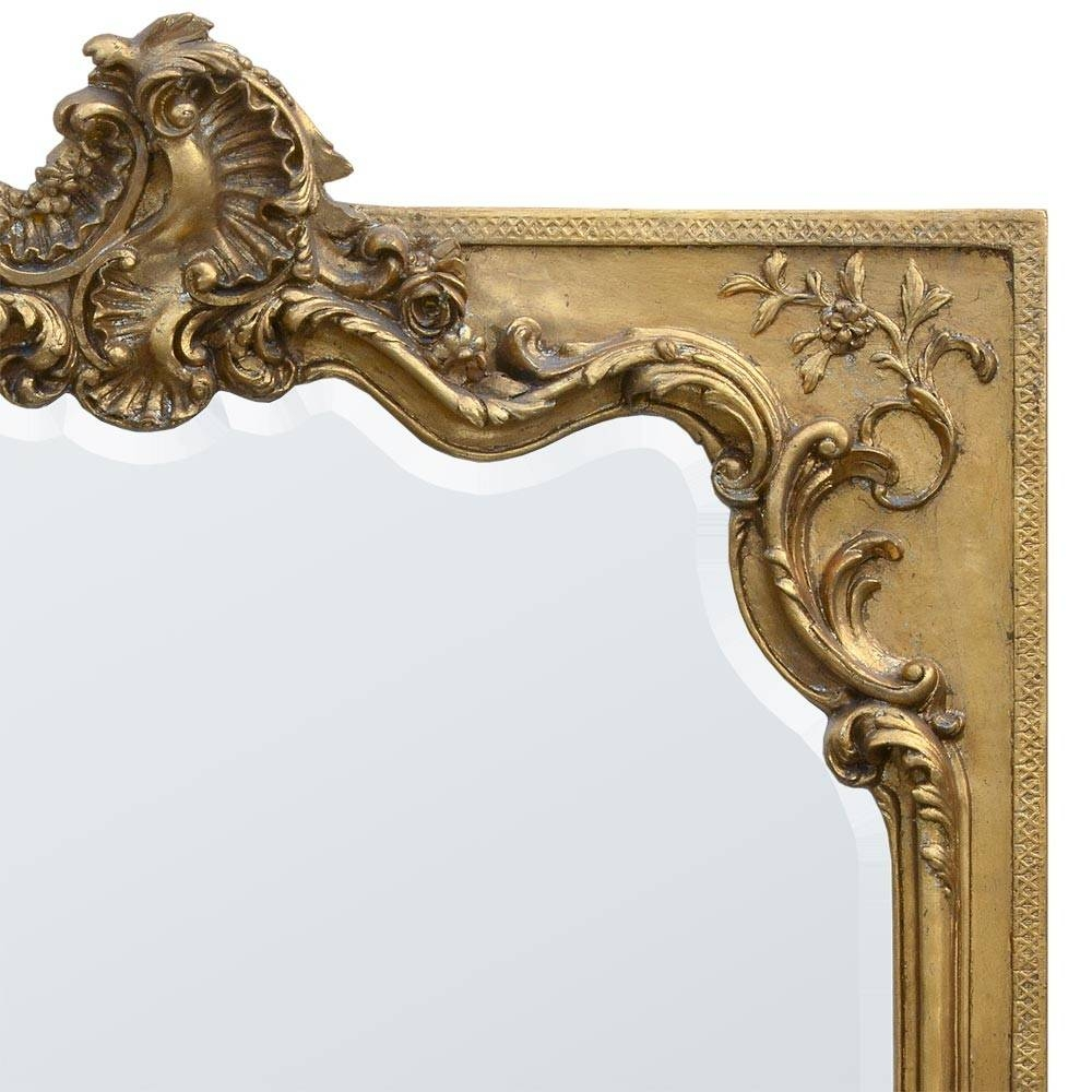 Augustina Antique Gold Gilt French Rococo Bevelled Large Full throughout Gold Rococo Mirrors (Image 12 of 25)