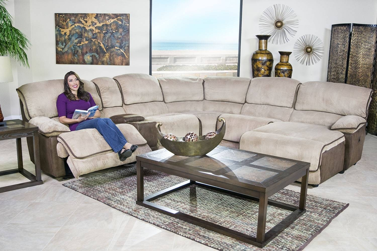 Austin Cafe 6-Piece Left-Facing Chaise Sectional | Mor Furniture within Austin Sectional Sofa (Image 3 of 30)