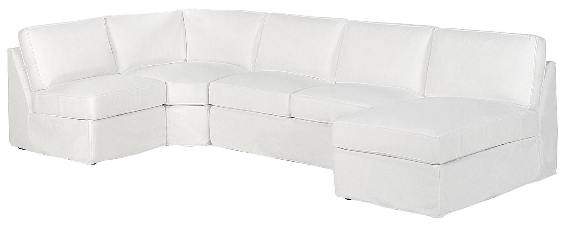 Ava Armless Sectional | Club Furniture pertaining to Armless Sectional Sofas (Image 3 of 30)