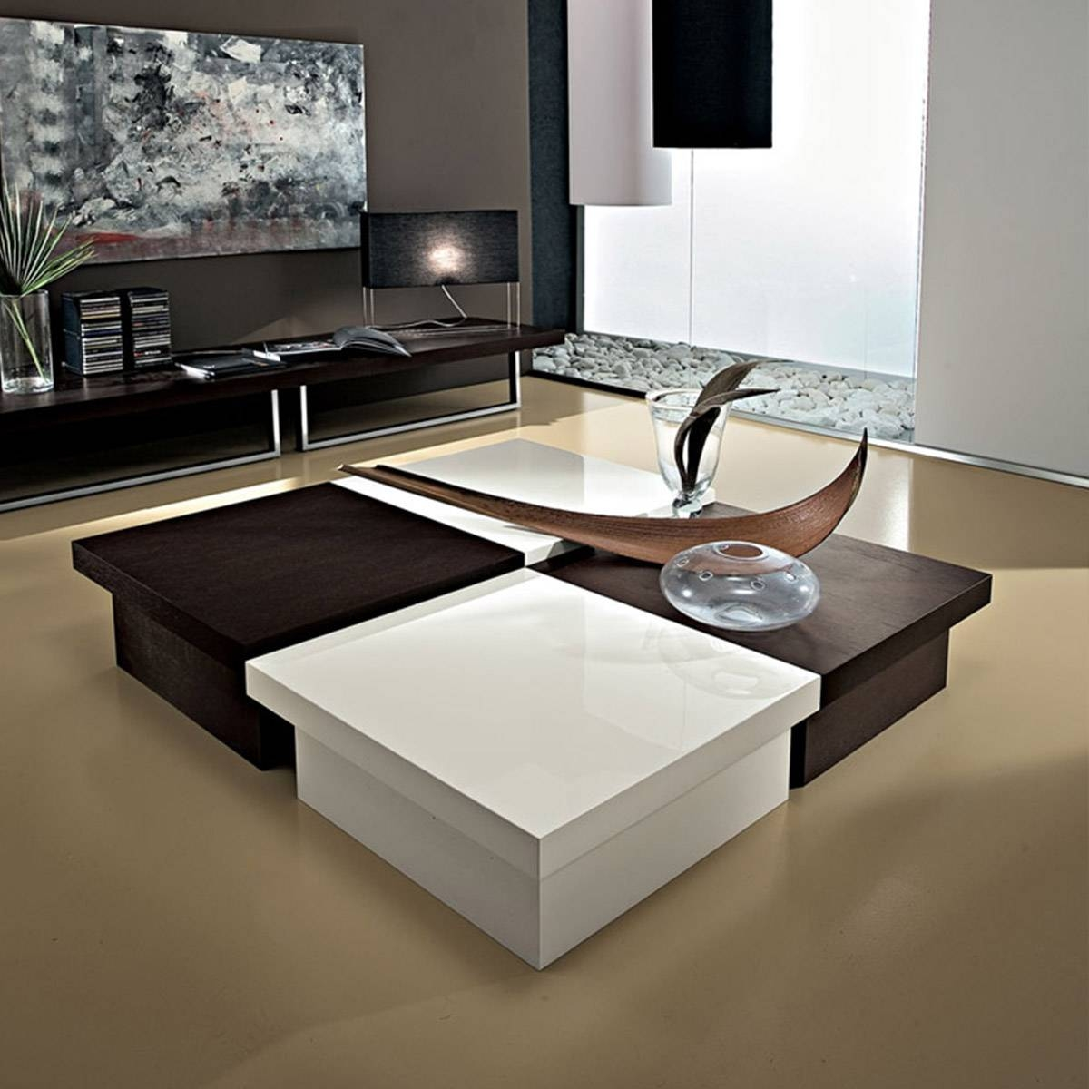 Available In Wood Veneer Or Plain Colours, Square Storage Coffee within Square Coffee Table Storages (Image 1 of 30)