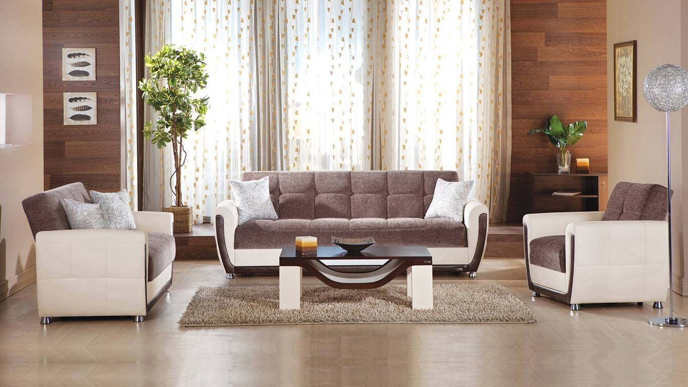 Avella Jennefer Brown Sofa, Love & Chair Setsunset Pertaining To Sofa And Chair Set (View 4 of 30)